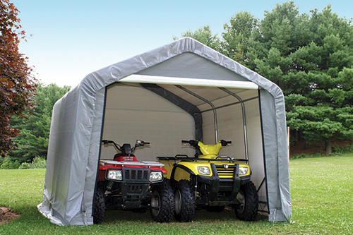 ShelterLogic 10x10x8 E Series Motorcycle Shed Review