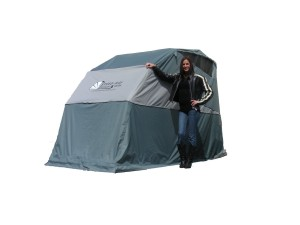 Speed-Way Grey Large Touring Motorbike Shelter