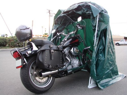 Portable Motorcycle Shed : Large portable motorcycle shelter review sheds
