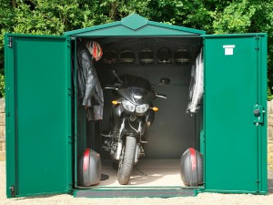 great motorcycle shed